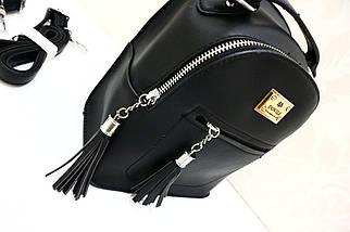 Модный кожаный рюкзак-сумка «1067 », фото 2