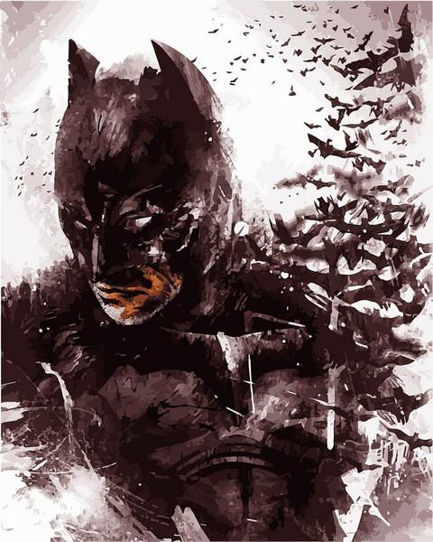 Картины по номерам 40×50 см. Бэтмен