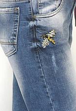 Джинси жіночі бойфренд з принтом, фото 2