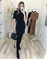 Платье женское свободного кроя в чёрном цвете
