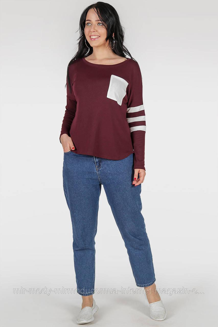 Батальный свитшот  бордового цвета с 48 по 62 размер(3 цвета)(wln)