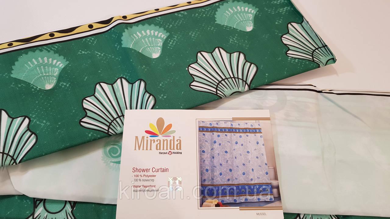 Штора для ванни/душа Міранда (Зелені черепашки) MUSSEL