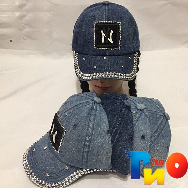 Детская  летняя кепка (джинс) для девочек р-р 55 (5 ед в уп) NA_К1952