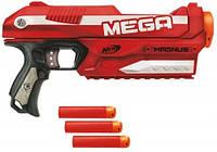 Бластер Magnus N-Strike Mega Nerf крупнокалиберный трехзарядный пистолет стреляющий зарядами Mega Darts , фото 1