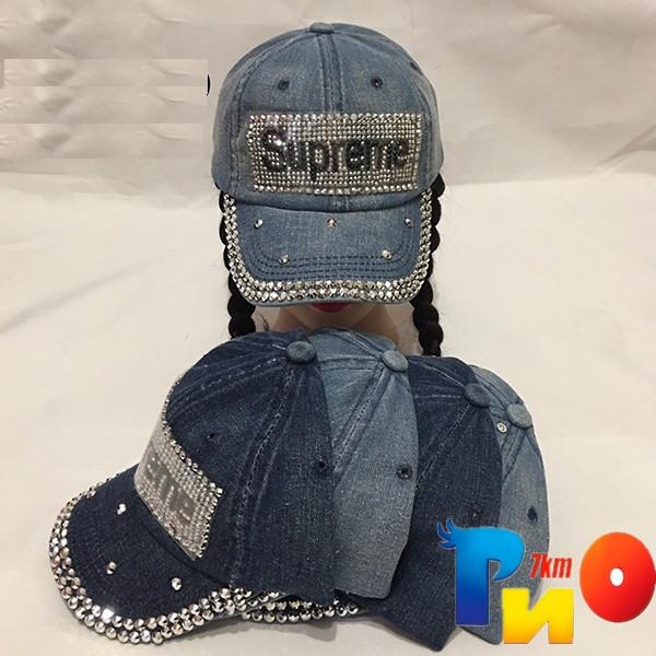 Детская  летняя кепка (джинс) для девочек р-р 55 (5 ед в уп) NA_К1953