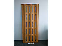 Дверь гармошка остеклённая ЭКО яблоня, фото 1