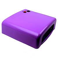 Уф лампа для сушки гель-лака, 36 w, фиолетовая
