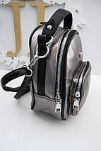 Бронзовый рюкзак-сумка «464» , фото 2