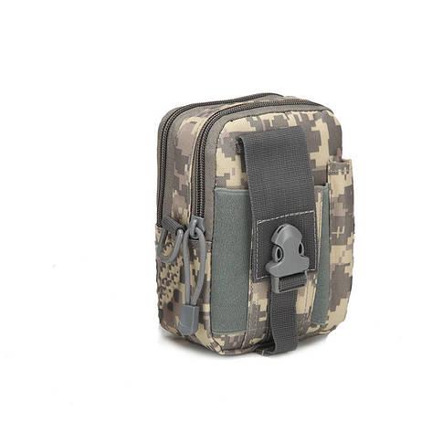 Тактическая универсальная (поясная) сумка - подсумок Mini warrior с системой M.O.L.L.E Pixel (001-pixel), фото 2