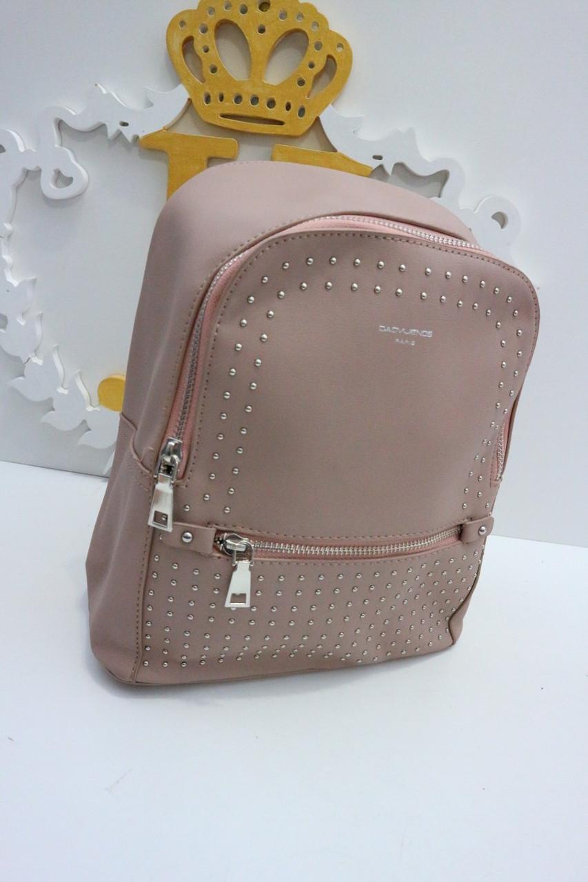 Женский розовый мини-рюкзак «3639»