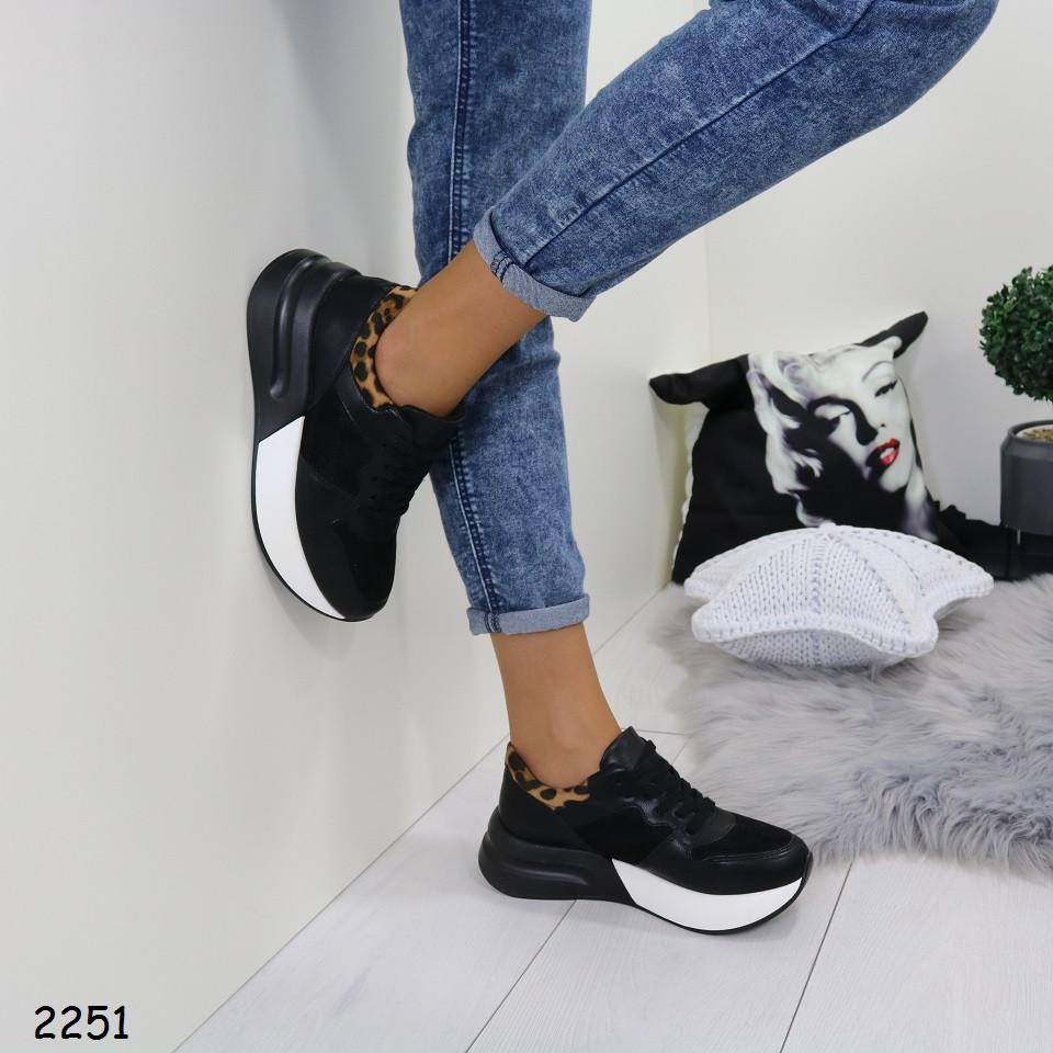 e66a9d03b98a Кроссовки женские комбинированные на толстой подошве черные: продажа, цена  . ...