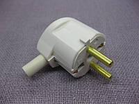 Вилка электрическая угловая с заземлением 16 А