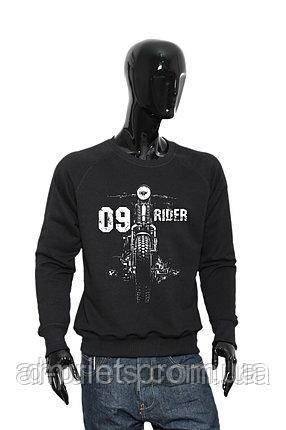 """Свитшот мужской с рисунком """"RIDER"""" M-09"""