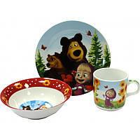 Набор детской посуды  Маша и Медведь С 199  Interos