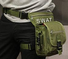 Тактическая универсальная (набедренная) сумка на бедро Swat Olive ( 300-olive), фото 3