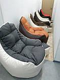 Кресло мешок, бескаркасное кресло, мягкий пуф, кресло BOSS ХХЛ, Производство, фото 6