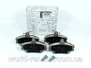 Комплект передних тормозных колодок на Рено Симбол, Клио / Renault (Original) 410602192R