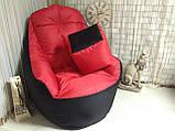 Крісло мішок, безкаркасне крісло, м'який пуф, крісло BOSS ХХЛ, Виробництво, фото 7