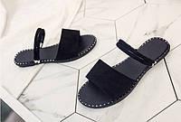 Сандали женские черные на тонкой подошве недорого, фото 1