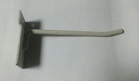 Крючки торговые металлические 110мм для экономпанели Белые, фото 2