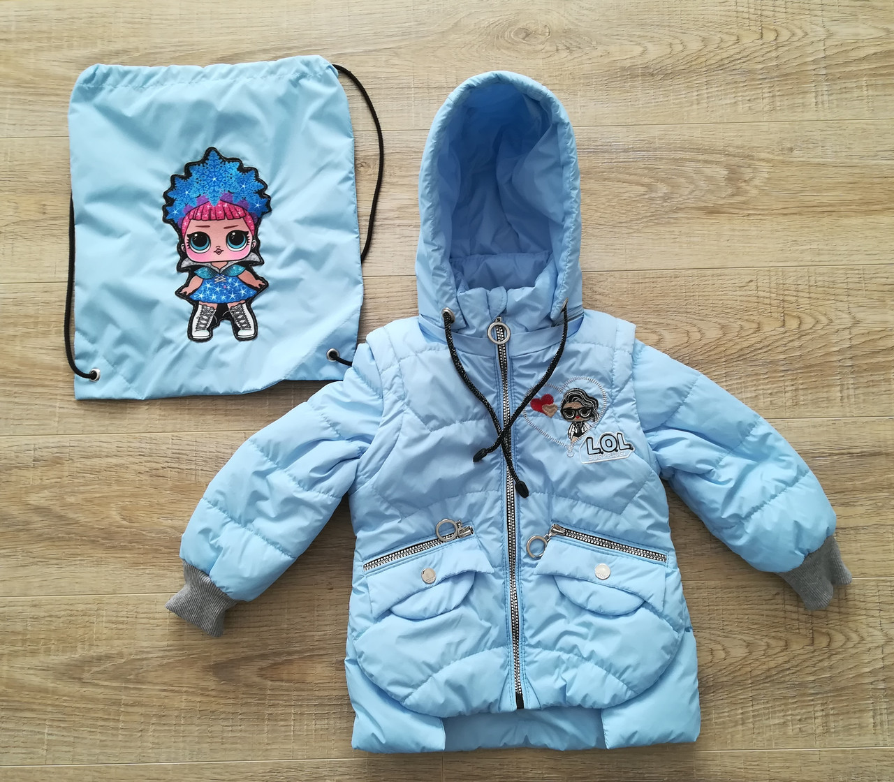 Куртка демисезонная на девочку интернет магазин  20-28 голубой