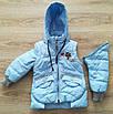 Куртка демисезонная на девочку интернет магазин  20-28 голубой, фото 7