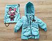 Детская куртка весна-осень девочка удлиненная 20-28 красный, фото 2