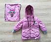 Детская куртка весна-осень девочка удлиненная 20-28 красный, фото 3