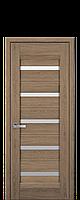 Межкомнатные двери Лира со стеклом сатин Дуб янтарный