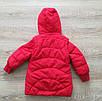 Детская куртка весна-осень девочка удлиненная 20-28 красный, фото 8