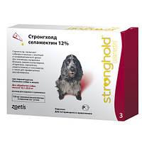 Капли Stronghold Стронгхолд от блох и глистов для собак 10,1-20кг 3 пипетки (120мг-12%), 10008310