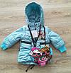 Детская демисезонная куртка для девочек удлиненная 20-28 голубой, фото 3