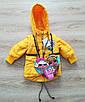 Детская демисезонная куртка для девочек удлиненная 20-28 голубой, фото 5
