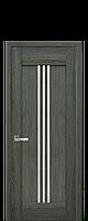 Межкомнатные двери Рейс со стеклом сатин Дуб графит
