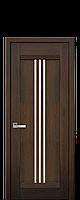 Межкомнатные двери Рейс со стеклом сатин Дуб шоколадный