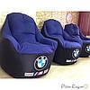 Кресло мешок, бескаркасное кресло, мягкий пуф,BMW,  кресло BOSS ХХЛ, Производство, фото 2
