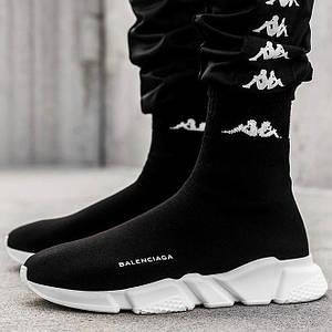 Мужские и женские кроссовки Balenciaga Speed Trainer Sock Black/White, баленсиага