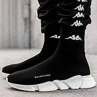 Женские и мужские кроссовки Balenciaga Speed Trainer Sock Black/White