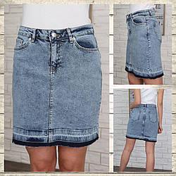 Джинсовые юбки варенка оптом от производителя Турция
