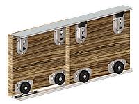 Набор роликов Valcomp ARES 2 для шкафа-купе, 2 двери