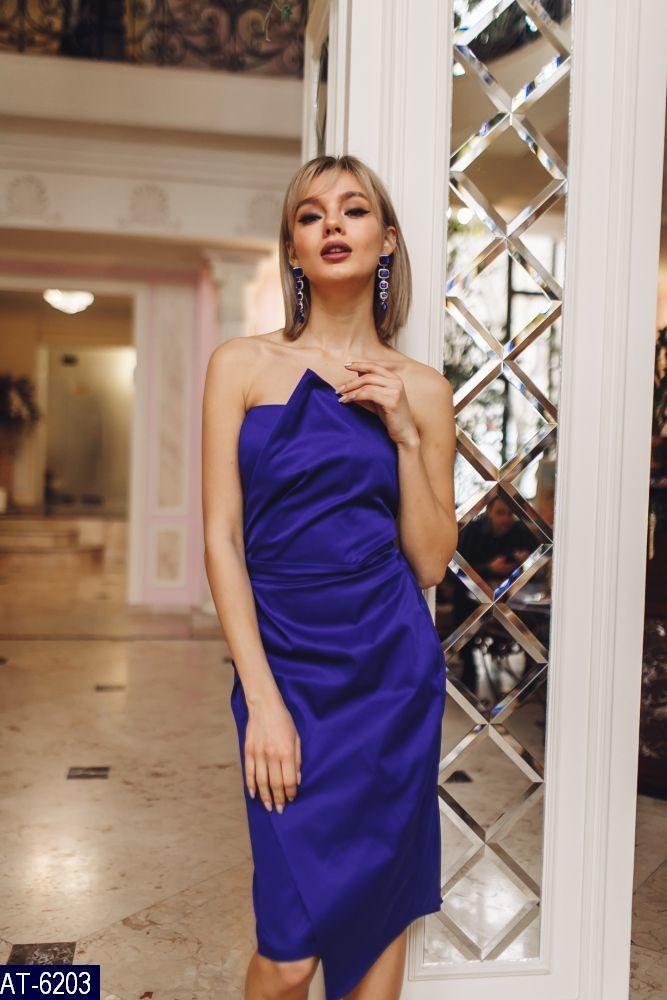 9bee6f8a7b0520f Женское нарядное летнее асимметричное миди платье без рукавов,с открытыми  плечами (мемори коттон)