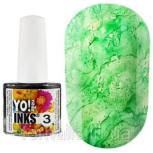 Чернила Yo!nails Inks №3, цвет зеленый, 5 мл