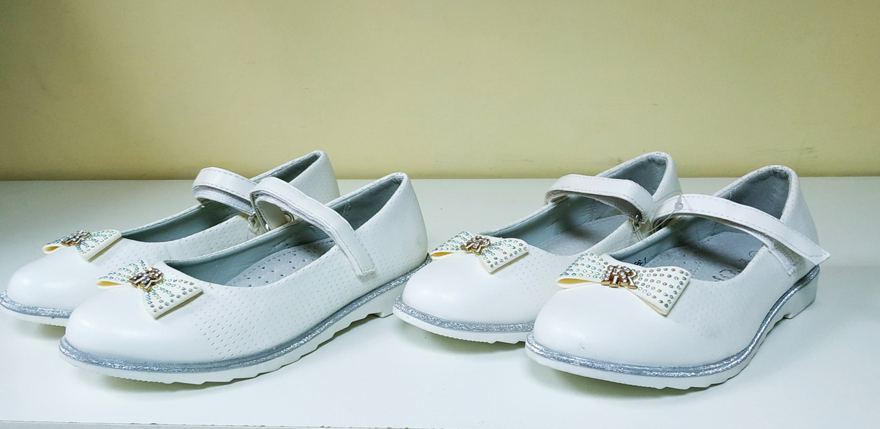 b0db137c2 Детские белые нарядные туфли для девочки., цена 299 грн., купить в ...