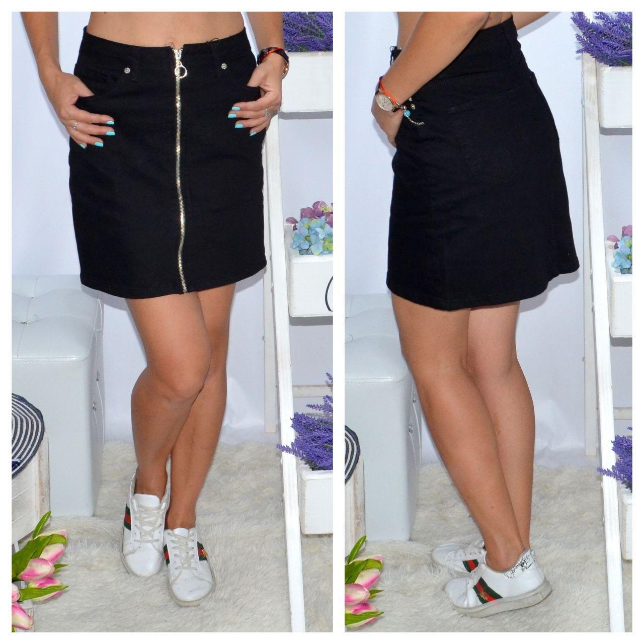 Джинсовые юбки юбка-трапеция оптом от производителя Турция