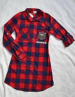Детская рубашка-туника для девочек 146-154 только оптом, фото 1