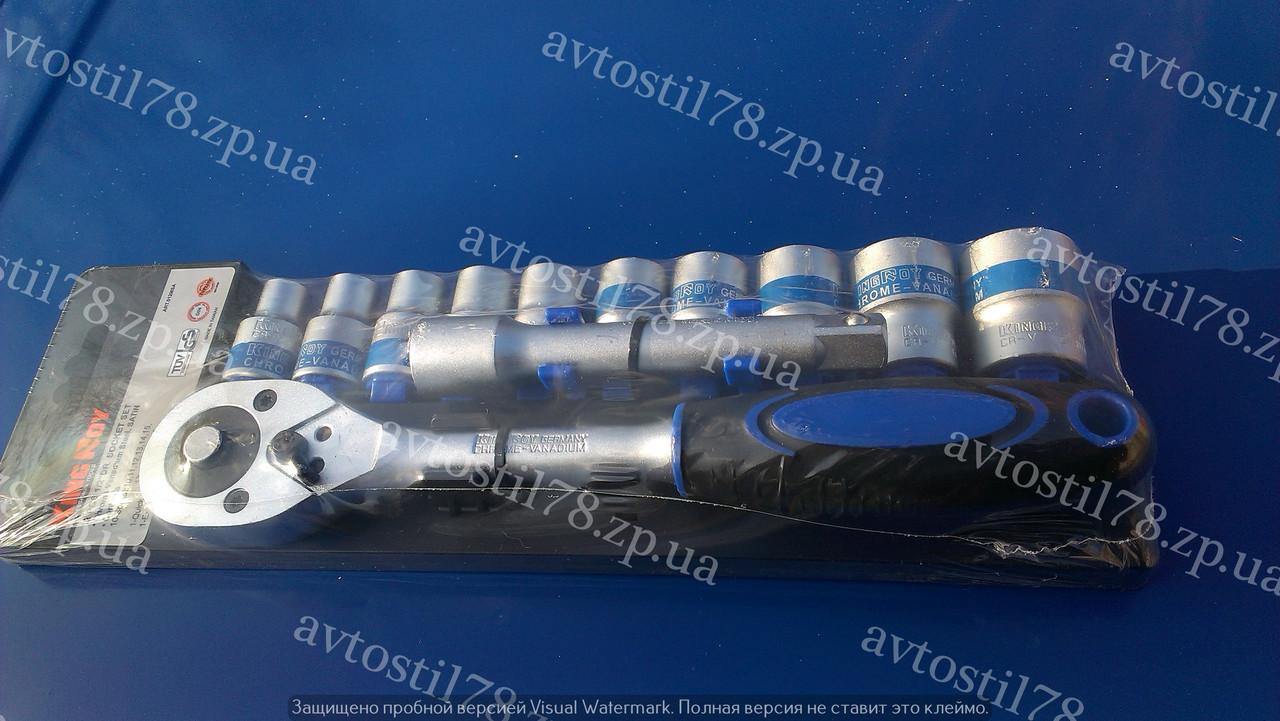Набор головок с трещеткой 12 предметов King 012MSA