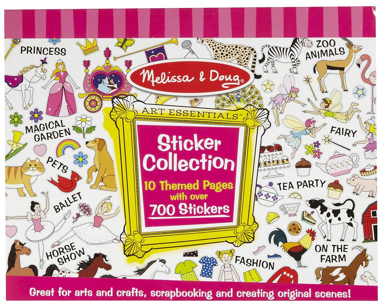 Розовый набор наклеек 700 шт Melissa&Doug (MD4247)