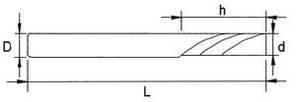 D4*32*55*1F AL Фреза спиральная однозаходная (1зуб, ЧПУ), фото 2