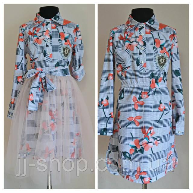 Нарядное платье двойка для девочек