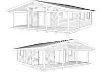 Строительство деревянного дома из оцилиндрованного бревна диаметром 200мм